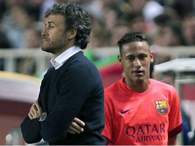 Luis Enrique lo mandó a freír churros a Neymar: El entrenador soy yo