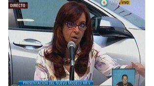 Cristina Fernández de Kirchner inaugura la producción del nuevo modelo modelo HR-V