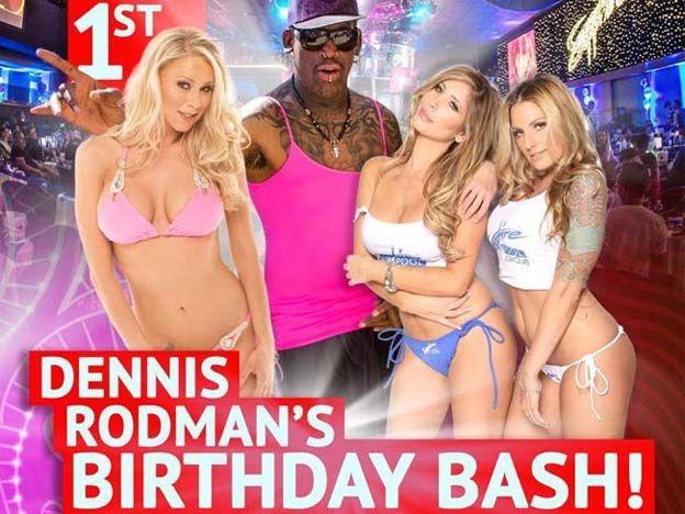 Imperdibles fotos: la controvertida fiesta de Dennis Rodman