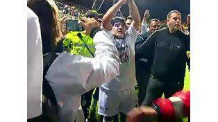 Las agresiones de Maradona en el Partido por la paz