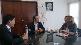 Corral recibió en su despacho a Frana y Ramos.