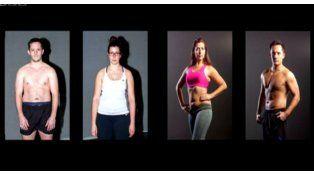 Antes y después. Los trucos de estudio hacen posible un cuerpo ideal.