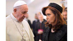La presidenta visitará al Papa Francisco en el Vaticano en junio próximo