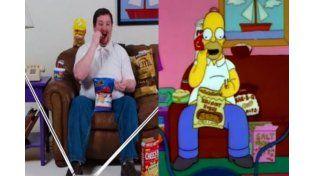 Video furor en las redes: el clon de Homero