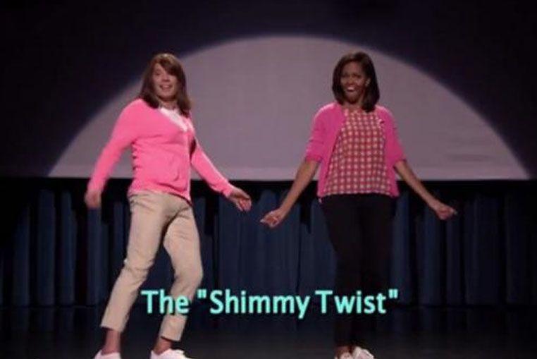 Michelle Obama, otra vez, la rompe en el baile