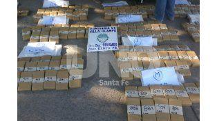 Detuvieron a narcotraficantes con 250 kilos de marihuana en Reconquista