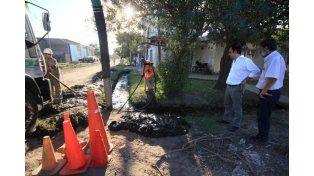 Desagües: continúan las tareas de limpieza en la ciudad