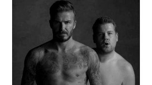 David Beckham parodia su anuncio de calzoncillos