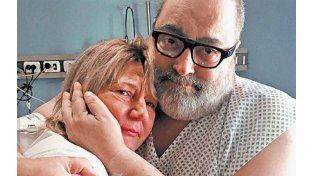 El emotivo abrazo entre Jorge Lanata y Nora, la mujer que le donó el riñón