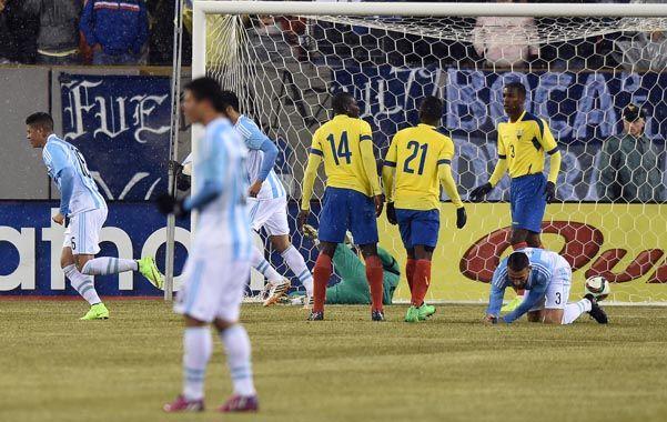 Argentina derrotó a Ecuador, en la gira previa a la Copa América