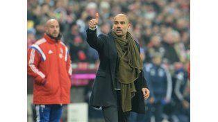 El insólito festejo de Guardiola con el gol del Bayern Munich