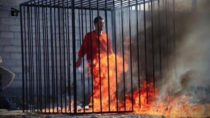 ISIS quemó vivo al piloto jordano que tenía capturado