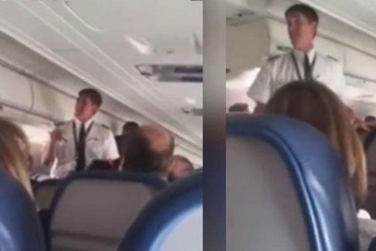 Realizó un aterrizaje de emergencia porque el piloto no puedo volver a la cabina