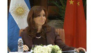 Cristina: La asociación estratégica con China es una política pública de Estado en Argentina