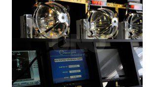 Imagenes realizadas durante el sorteo en la Sala de la Lotería de Santa Fe