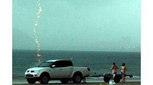 Un fotógrafo captó el momento en que un rayo mata a una mujer en Brasil