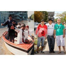 tres relatos de la inundacion, entrelazados en una misma foto