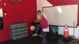 Flor Vigna la rompe haciendo jueguitos con la pelota: ¡Preparate Tinelli!