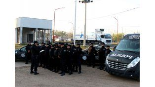 La Policía de Acción Táctica actúa en el barrio Barranquitas Oeste