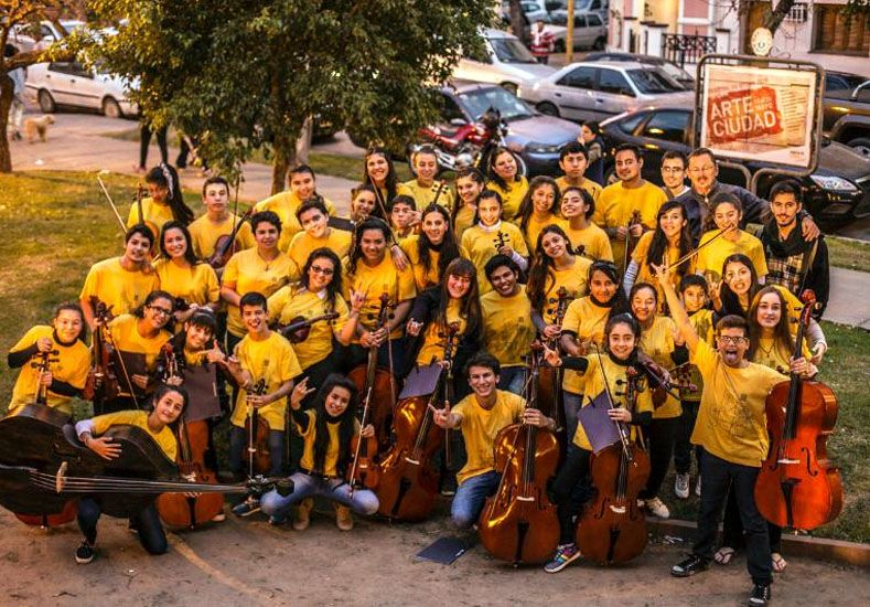 Más de 200 chicos participan de un encuentro de Orquestas Juveniles