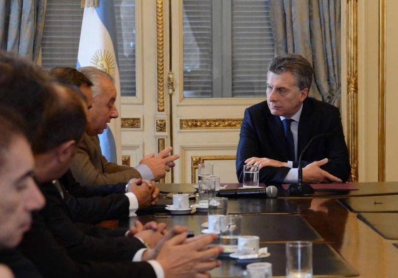 Rafael Gutiérrez mantuvo una reunión con el presidente Macri