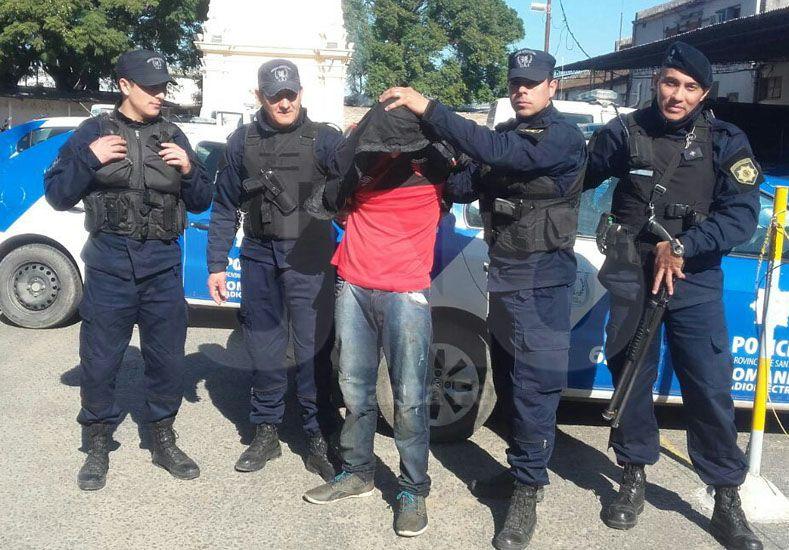 El preso que se escapó de la Comisaría y fue recaptura en la mañana de este domingo.