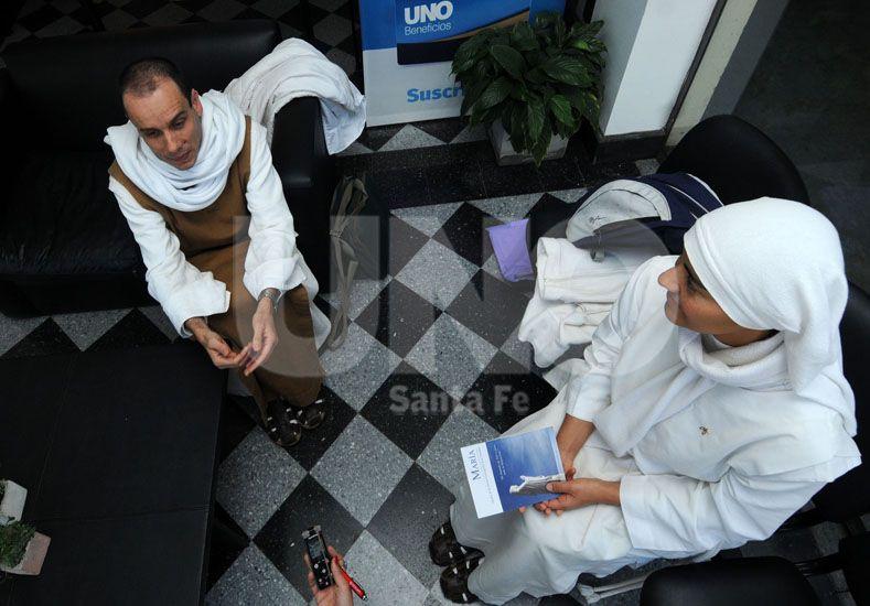 Ansiedad. El fray Benedetto y la hermana Carmela explicaron los detalles de las jornadas / Foto: José Busiemi - Uno Santa Fe