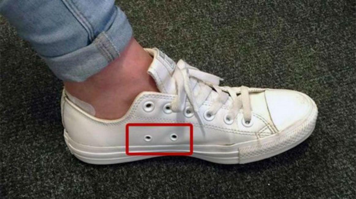 Fin al misterio: para esto sirven los agujeros laterales de las zapatillas