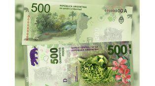 Los sueldos de julio vendrán con billetes de 500 pesos