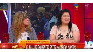 La madre de Matías S y la ex pareja de Macarena se cruzaron en vivo y...
