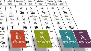 Así serán llamados los cuatro nuevos elementos de la tabla periódica