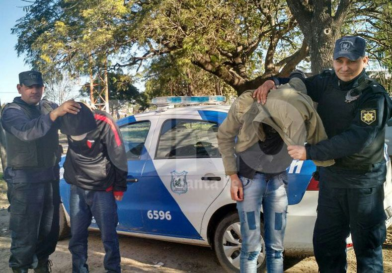 Atrapados. Los dos jóvenes hampones fueron apresados