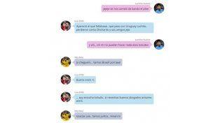 La charla de Whatsapp entre Messi y los del Barça durante Argentina-Chile