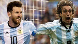 Messi igualó tu récord: mirá la cara que puso Batistuta