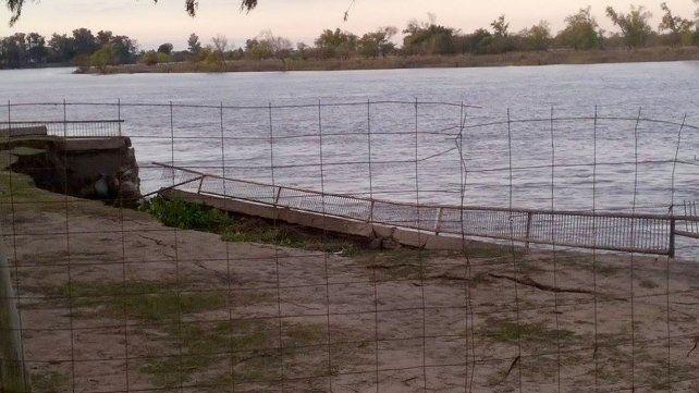 Así quedó parte de la costanera de la localidad costera de San Javier.