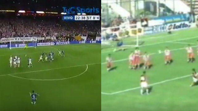 El gol de Messi, un calco de un gol de Colón a Unión en el año 2000
