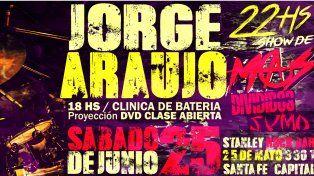 Jorge Araujo, ex baterista de Divididos, dará una clase abierta en Santa Fe