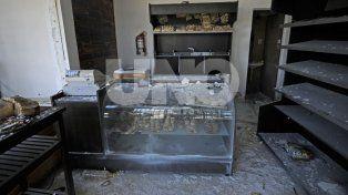 Así quedó la panadería. El gas se acumuló y explotó cuando se produjo una descarga eléctrica.