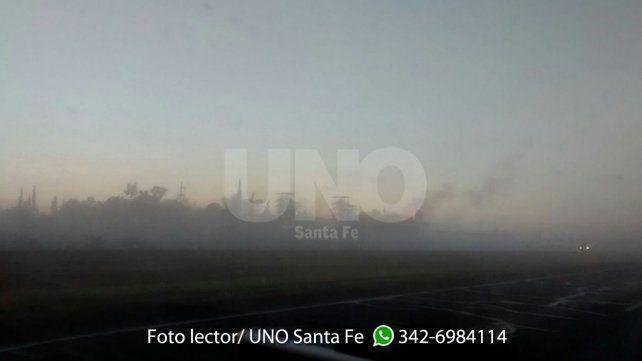 Danilo y Melina tomaron esta foto en la Autopista a Rosario en la mañana de este jueves.
