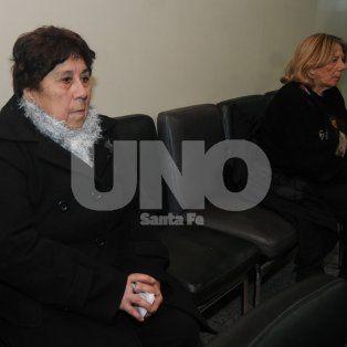 Conocidas. Cecilia Góngora (der.) y la obstetra Elsa Nasatsky (izq). en la primera audiencia.