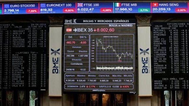 Las bolsas europeas se derrumban por el triunfo del Brexit