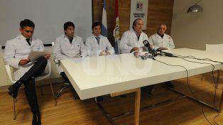 Exponentes. De la charla participaron los doctores Carlos Rodríguez Sañudo