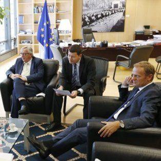 Los presidentes de las comisiones europeas durante la reunión de hoy en Bruselas. AP