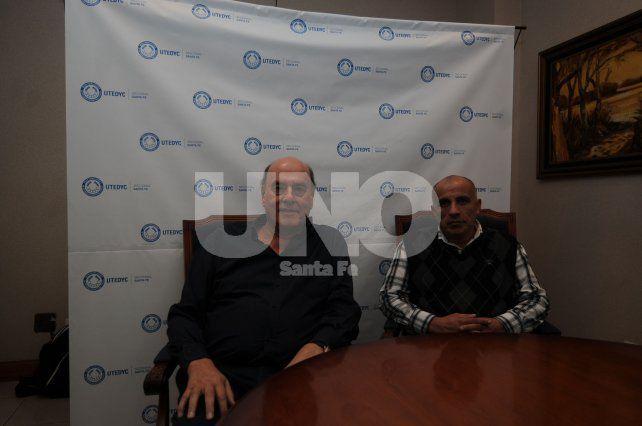 Anuncio. Bonjour y Galeano al momento de brindar los detalles del flamante Centro Médico Santa Fe.