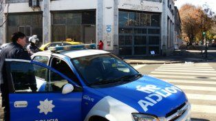 Custodia. El ambiente álgido obligó a que la policía garantice la seguridad para la audiencia en Trabajo.