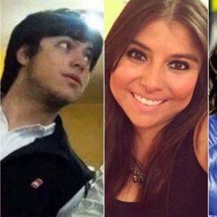Leandro, Martín, Melina y Luciana Báez, hijos del empresario detenido.