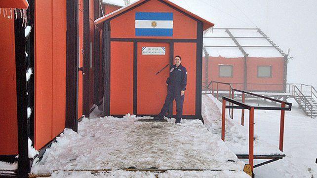 La santafesina que vive a 20 grados bajo cero
