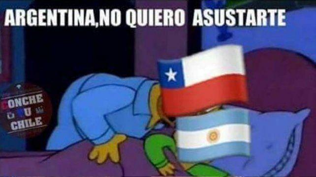 Chile se adelantó a la final y ya disparó con memes para Argentina