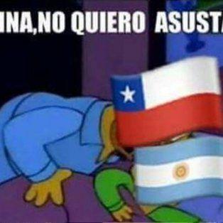chile se adelanto a la final y ya disparo con memes para argentina