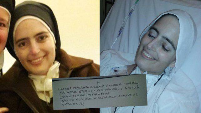 Hermana Cecilia María,  Carmelita descalza,  que murió feliz